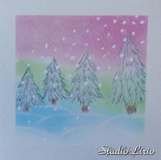 聖夜の雪景色